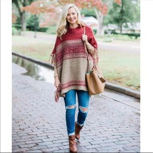 Free people labyrinth poncho Sz M/L